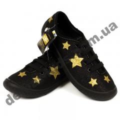 Детские кеды-тапочки 3F Fredom For Feet MALWA 4BT14/5 черные