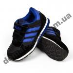 Детские кроссовки Adidas микропора черно-синие