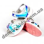 Детские голографические босоножки Apawwa GX187-1 (GX188-1) SILVER сербряно-голубые