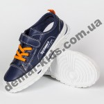 Детские кроссовки кеды Apawwa VC72-1 NAVY сине-оранжевые 25-30