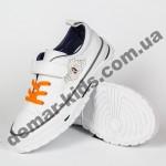 Детские кроссовки кеды Apawwa VC74-1 WHITE бело-оранжевые 25-30