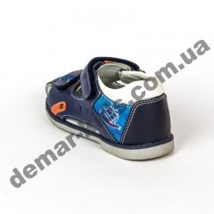 Детские босоножки BBT kids сине-оранжевые ( 22-27 )