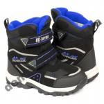 Детские термоботинки B&G Termo ZTE20-106 черно-синие