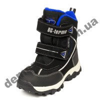 Детские термоботинки B&G Termo ZTE20-64 черно-синие