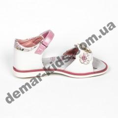 Детские ортопедические босоножки Bessky розовые цветы средние