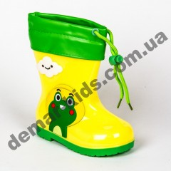 Детские резиновые сапоги Bona жабка желто-зеленая