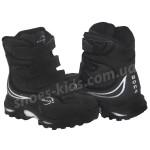 Детские кожаные термоботинки BONA 001 (черные нубук высокие)