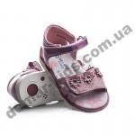 Детские ортопедические босоножки Bessky розовые цветочки
