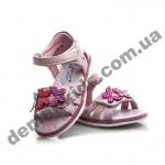 Детские ортопедические босоножки Bessky розовые бабочки