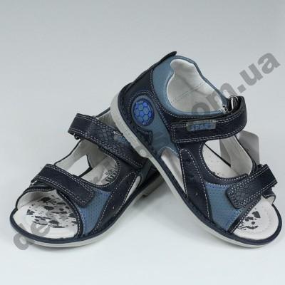 Детские ортопедические босоножки Tom.m синие открытый носок