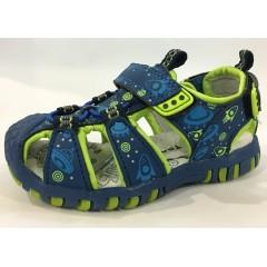 Детские босоножки ТОМ.М сине-зеленые закрытый носок