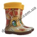 Детские резиновые сапоги Demar HAWAI LUX PRINT AK жираф