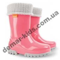 Детские резиновые сапоги Demar TWISTER LUX F ( розовые )