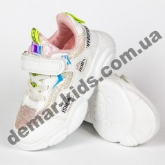 Детские кроссовки Kimbo-o DD56-2C бело-розовые