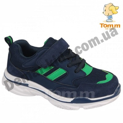Детские кроссовки Том М 5662M сине-зеленые средние