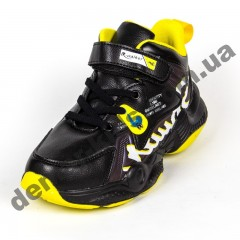 Детские кроссовки R-Walker черно-желтые  ( 32-37 )