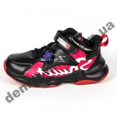 Детские кроссовки R-Walker черно-красные ( 32-37 )