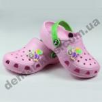 Детские сабо кроксы (сланцы, шлепки, вьетнамки ) Jose Amorales розовые пчелка