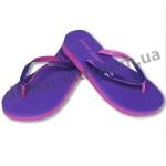 Детские сланцы ( шлепки, вьетнамки ) Super-Gear фиолетово-розовые