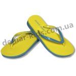 Детские сланцы ( шлепки, вьетнамки ) Super-Gear желто-бирюзовые