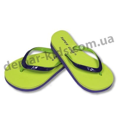Детские сланцы ( шлепки, вьетнамки ) Super-Gear салатово-фиолетовые