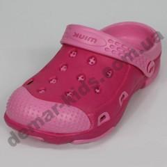 Детские кроксы (сланцы, шлепки, вьетнамки ) Wink малиново-розовые