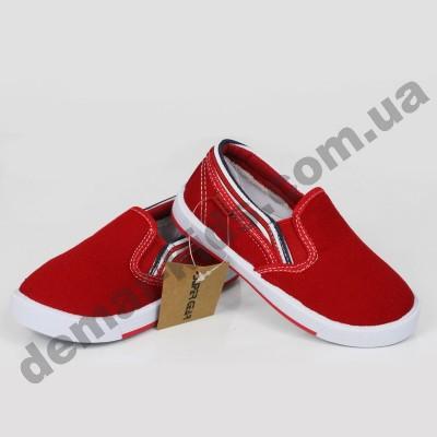 Детские слипоны SLIP ON Super-gear красные ( малыши )