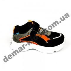 Детские кроссовки Солнце черно-оранжевые маленькие