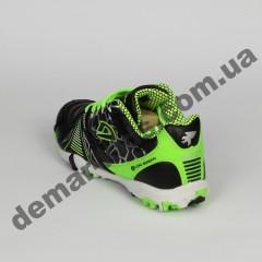 Детские футбольные сороконожки Demax черно-зеленые