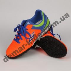 Детские футбольные сороконожки Dugana оранжевые