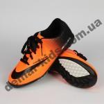 Детские футбольные сороконожки Nike оранжево-черные - 2