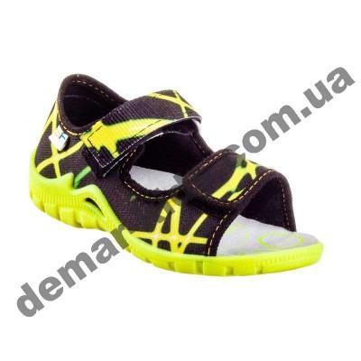Детские босоножки-тапочки 3F Fredom For Feet Sfinks 3TR22/9 черно-желтые