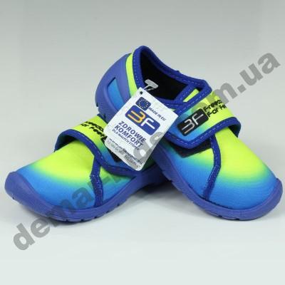 Детские тапочки 3F Fredom For Feet PLUTON 3RX4/2 сине-лимонные