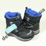 Детские термоботинки Bi&Ki черно-синие