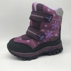 Детские термоботинки Том М фиолетовые маленькие ( снежинки )