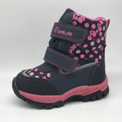 Детские термоботинки Том М розовые маленькие ( горошки )