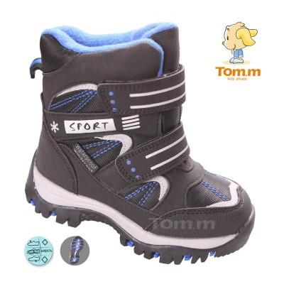 Детские термоботинки Том М черно-синие ( sport )