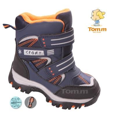 Детские термоботинки Том М сине-оранжевые ( sport )