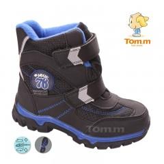 Детские термоботинки Том М черно-синие ( 76 )