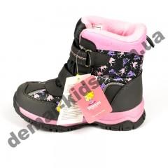 Детские термоботинки Том М C-T57-28-K розовые маленькие ( туфельки )