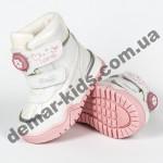 Детские термоботинки Том М C-T7677-F белые 23-28