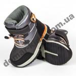 Детские термоботинки-дутики Том М C-T7741-B серо-оранжевые маленькие