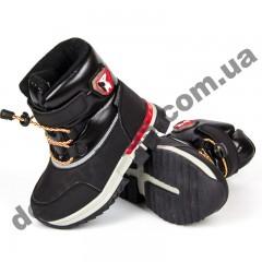 Детские термоботинки-дутики Том М C-T7741-A черно-красные маленькие