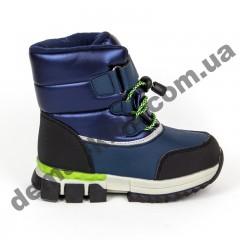 Детские термоботинки-дутики Том М C-T7741-D сине-зеленые маленькие