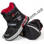Детские термоботинки Том М C-T7829-A черно-красные средние 27-32