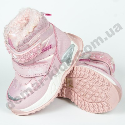 Детские термоботинки-дутики Том М C-T9532-A розовые 23-28