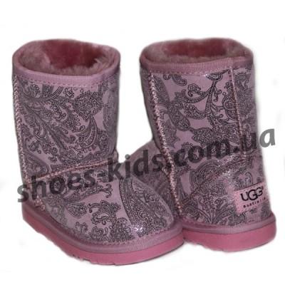Детские угги UGG  KIDS CLASSIC SHORT (розовый огурец )