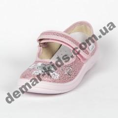 Детские тапочки Waldi сердечко розовые 24-30