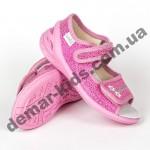 Детские текстильные босоножки Waldi Ева цветы темно-розовые 23-30