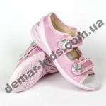 Детские текстильные босоножки Waldi Марина ромашки розовые 23-30